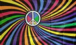 RAINBOW SWIRL PEACE - 5 X 3 FLAG